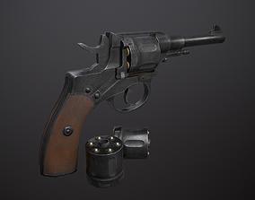 3D model VR / AR ready Nagant M1895 Revolver