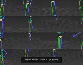 catwalk woman - man 8 in1 3D fashionshow