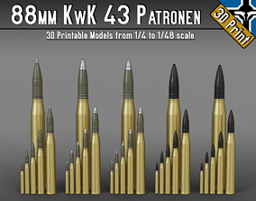 88mm KwK 43 - PaK 43 Patronen --- 1-4 to 1-48 scale 2