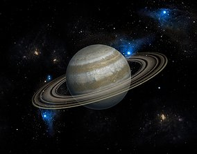 3DMAX model-Saturn in the Milky Way