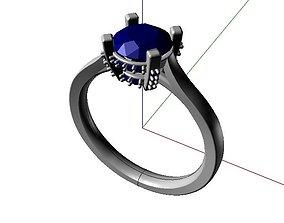 16 - diamond ring 3D printable model
