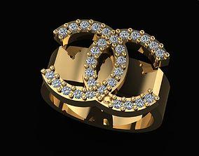3D printable model Chanel ring custom