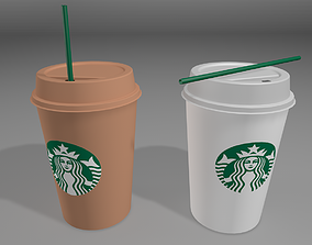 Starbucks Coffee Cup 3D Model low-poly