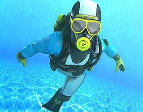 Diver - Dry Suit 3D asset