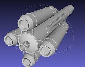 European Rocket Collection 3D satellite