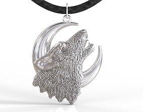 Wolf pendant 3sizes 3D printable model