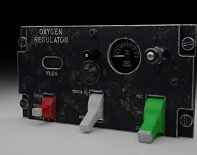 F16 Oxygen Regulator Panel 3D