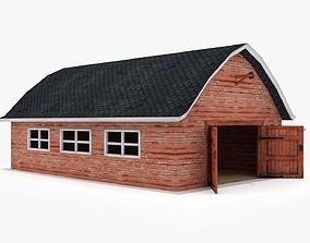 Farm house landscape 3D model
