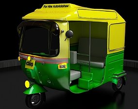 CNG Auto Rickshaw High Poly Delhi 3D printable model
