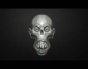 Traditional Scull Scary Scull Decor 3D printable model 3