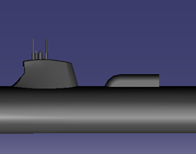 Suffren nuclear submarine 3D print model