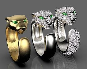 panther rings 3D print model
