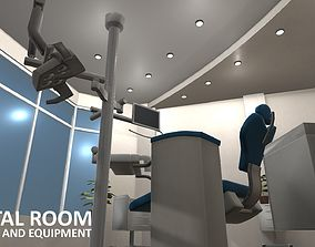 Dental room - interior and equipment 3D model