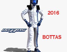 Valtteri Bottas 2016 3D asset