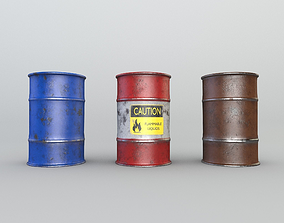 realtime BARRELS Game Ready PBR Textures VR Low-Poly 3D