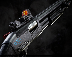 Remington 870 Pump-Action Shotgun 3D model