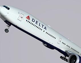 Boeing 777-9x Delta 3D model