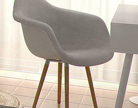 CHAIR EAMES DAW UPHOLSTERY 3D model