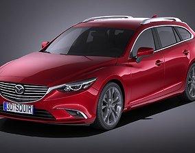 3D Mazda 6 Wagon 2016 VRAY
