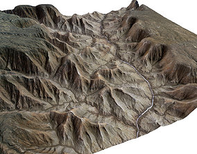 3D model 75km x 75km Grand Canyon Landscape valley
