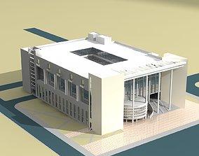 Museum Building 3D model office