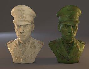 Erwin Rommel Bust Low Poly 3D asset