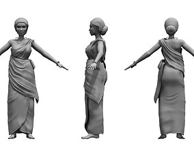 character india woman 3d model