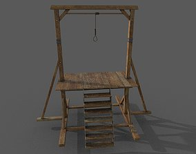 Gallows Low-poly 3D model low-poly