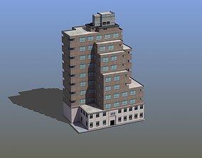 Modern Apartment Building 3D asset