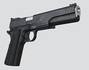 3D asset Remington R1 10mm Hunter Long Slide Pistol