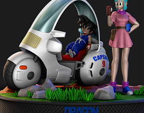 Goku and Bulma - Dragonball 3D printable model