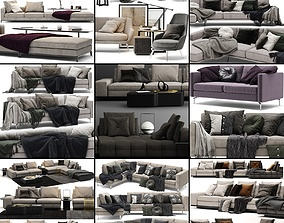 Sofa Collection 02 - 10 Items 3D model