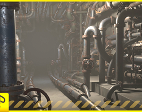 Pipes pack 3D asset VR / AR ready
