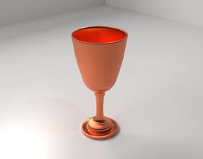 Copper Goblet 2 kitchen 3D model