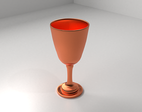 Copper Goblet 2 kitchen 3D model