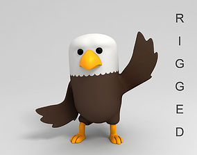 3D model Rigged Eagle Character