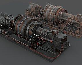 Machinery device 3D model PBR