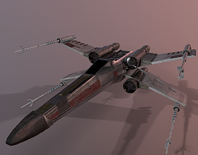 3D asset realtime X-Wing Starfighter Star Wars