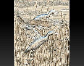 3D print model Ducks in the reeds - relief - 2019