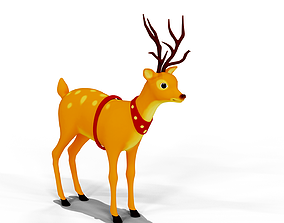 3D asset Cartoon Deer unity package