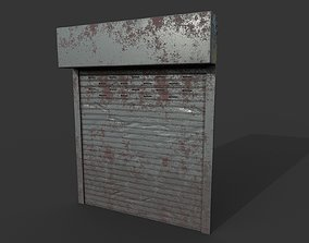 3D model Metal industrial door