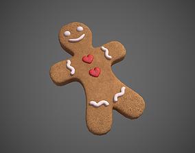 Gingerbread Cookie Man 3D asset