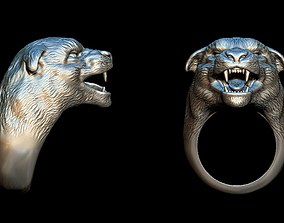 Panther ring 3D print model forest