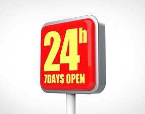 24hours sign 3D