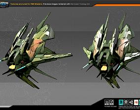 SF Alien fighter A8 3D asset
