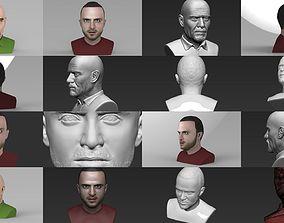 3D Walter White Jesse Pinkman bust