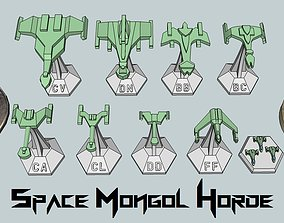 3D printable model MicroFleet Space Mongol Horde Starship