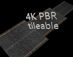3D asset 8 x Different High Quality Seamless PBR Asphalt
