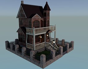 3D model Victorian Ghost House