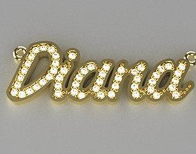 diana diamond pendant N00012 3D print model